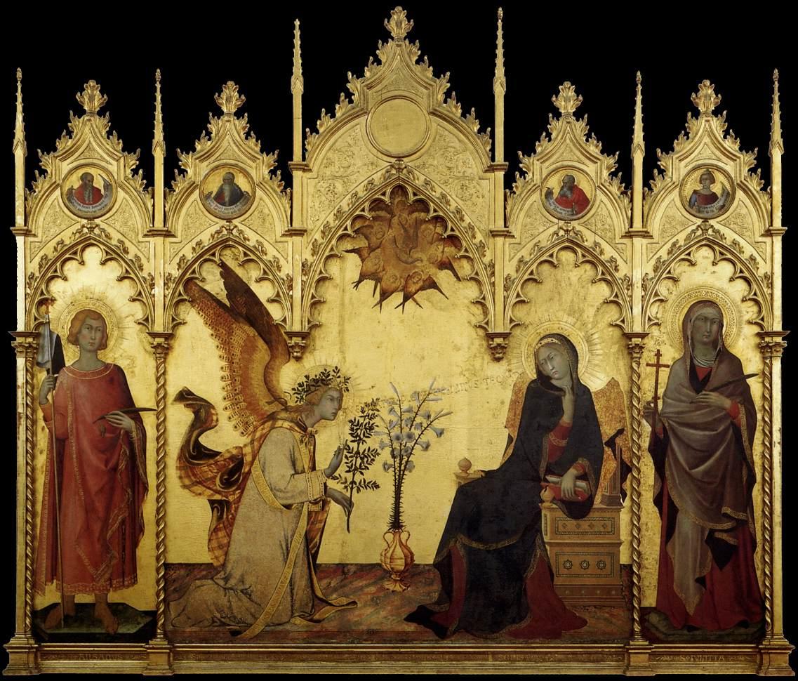 Simone_Martini_-_The_Annunciation_and_Two_Saints_-_WGA21438