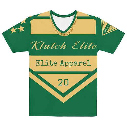 Klutch Elite Green Gold Chain V-Neck Tee