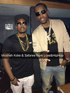 Mosheh Koke and Safaree from Love & Hip Hop