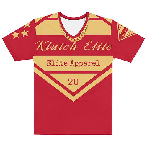 Klutch Elite Red Gold Chain V-Neck Tee