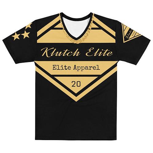 Klutch Elite Black Gold Chain V-Neck Tee