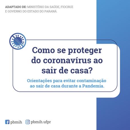 Como se proteger do coronavírus ao sair de casa?