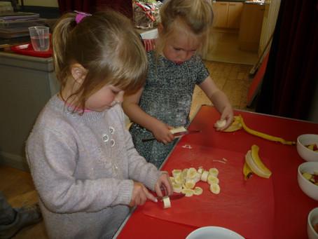 Preparing a healthy snack
