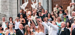 Sortie d'un mariage