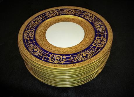 Cauldon Heavy Gilded Service Plates