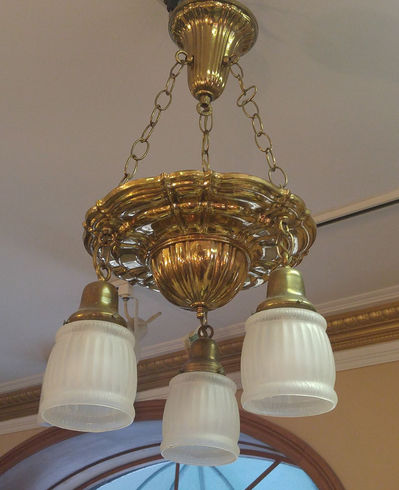 3 Light Brass Chandelier