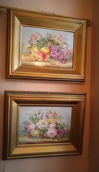Pair of Paintings on Porcelain