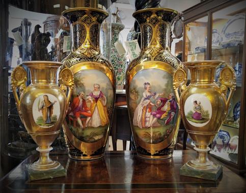 Porcelain Vases  2 Pairs