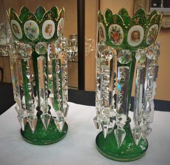Bohemian Cut Glass Portrait Lustres