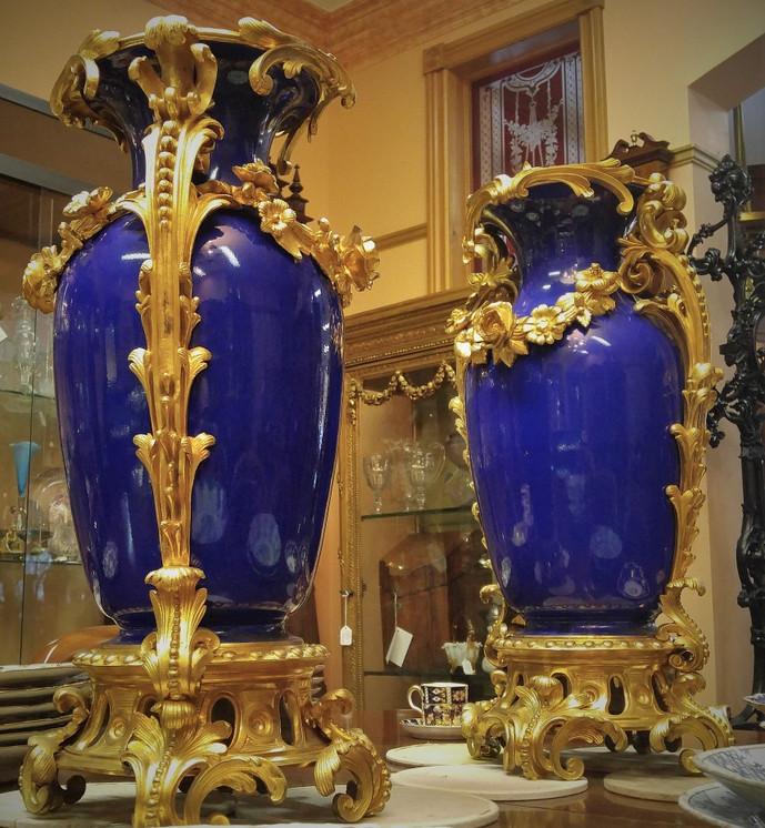 Louis XV Porcelain Vases