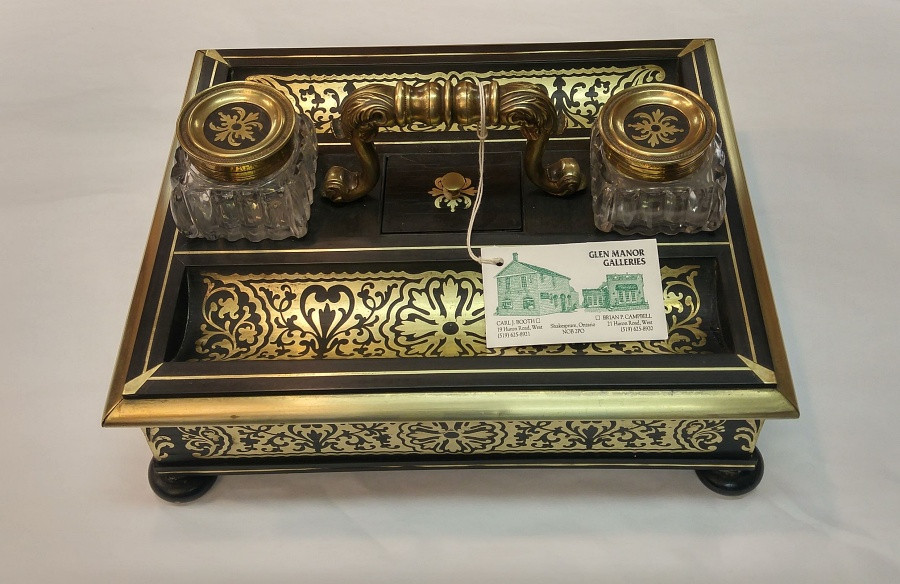 French Boulle Inkstand