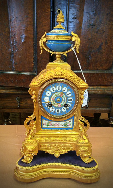 """French """"Sevres"""" Mantle Clock"""