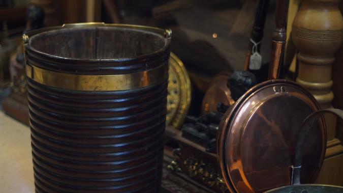 Mahogany Peat Bucket