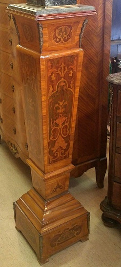 French Marble Top Pedestals-Pair