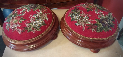 Victorian Beaded Footstools