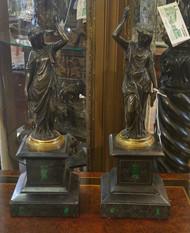 Pair of Bronze Maidens