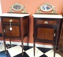 French Bedside Commodes  Pair