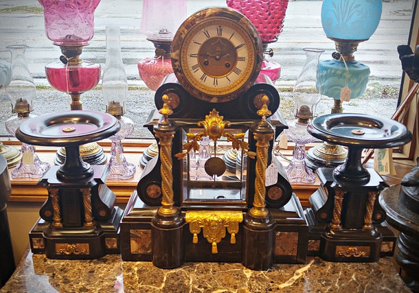 French 3 Piece Mantle Clock