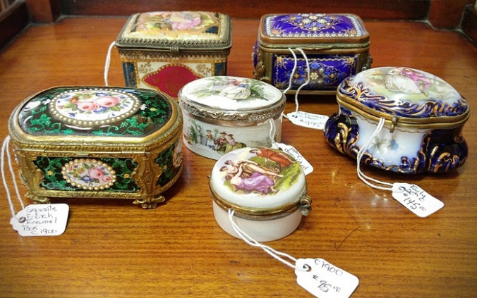 Miniature Enamel Boxes