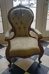 Walnut Victorian Fireside Chair