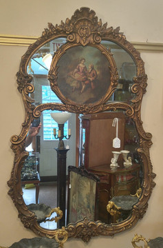 Gilt & Painted Mirror