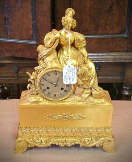 French Gilt Mantle Clock