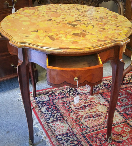 French Marble Top Salon Table
