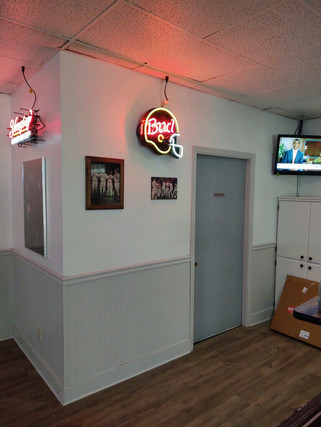 New Paint, Flooring, and Signs Hung