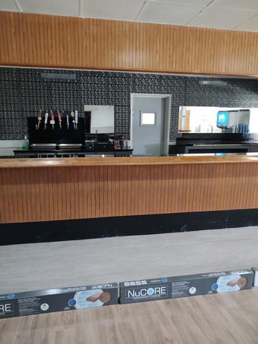 New Bar Flooring and Wall Tins