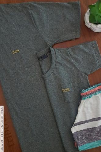 Pijama Infantil Masculino, de Camiseta com Bolso