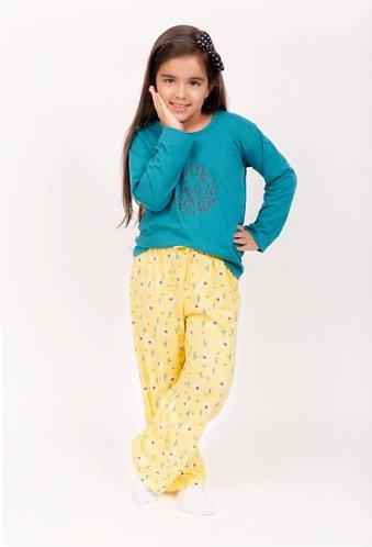 Pijama Filha, de Inverno 100% Algodão, Estampas Divertidas (coleção mãe e filha)