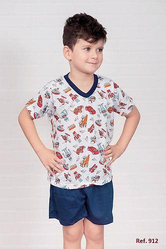 Pijama de algodão infantil, masculino