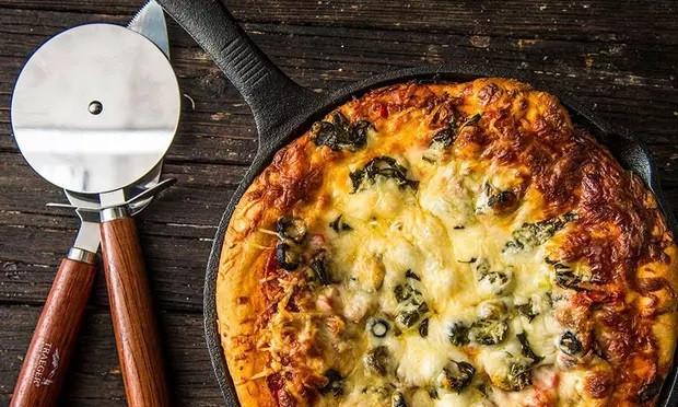Baked Deep Dish Supreme Pizza