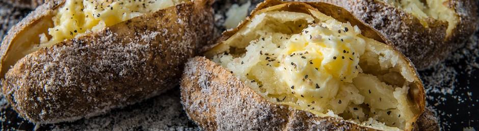 Ψητές πατάτες με χοντρό αλάτι
