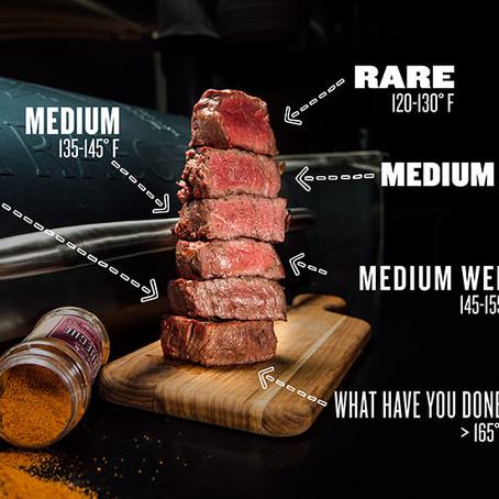 Βαθμοί ψησίματος του κρέατος