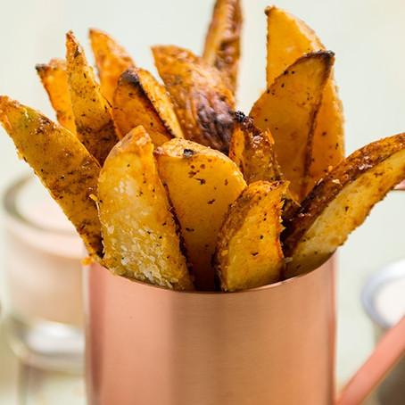 Τραγανές πατάτες χωρίς τηγάνισμα