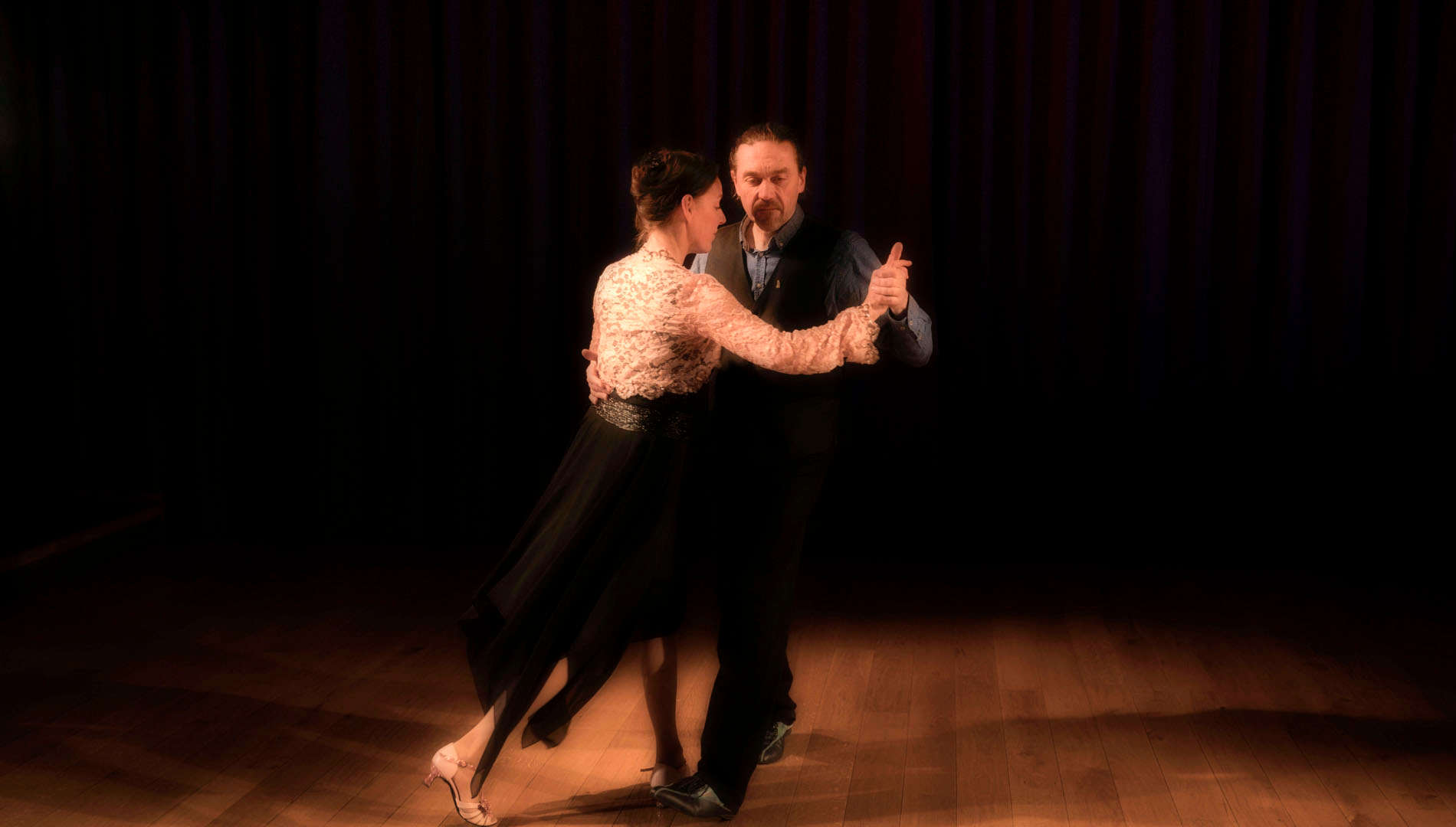 Tangofoto Hermann Steigert   Tangotänzer Veronique Geng und Didier Krebs  Tangotanzen in Freiburg