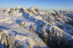Fox Glacier and the Southern Alps