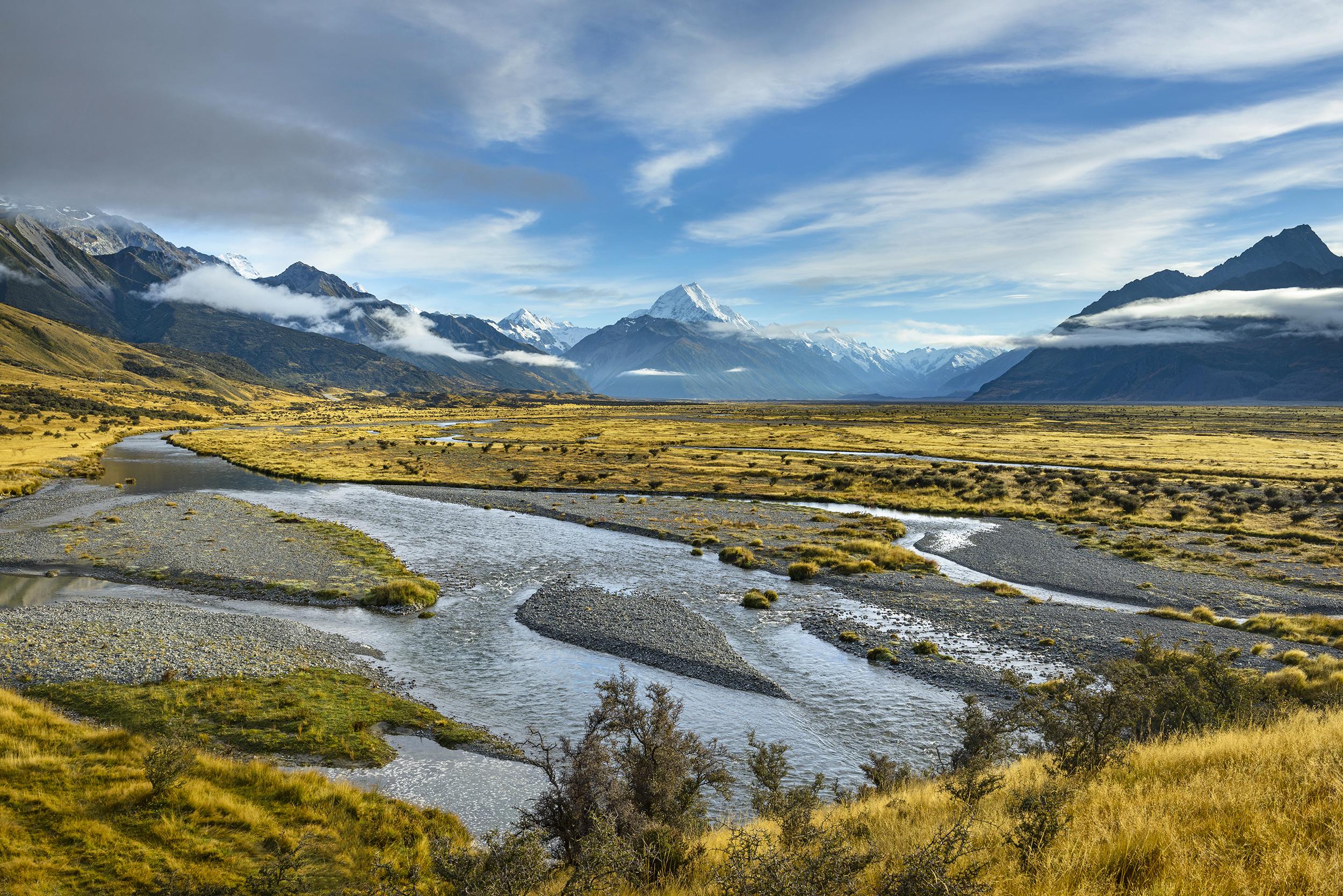 Aoraki/Mt Cook and the Tasman River