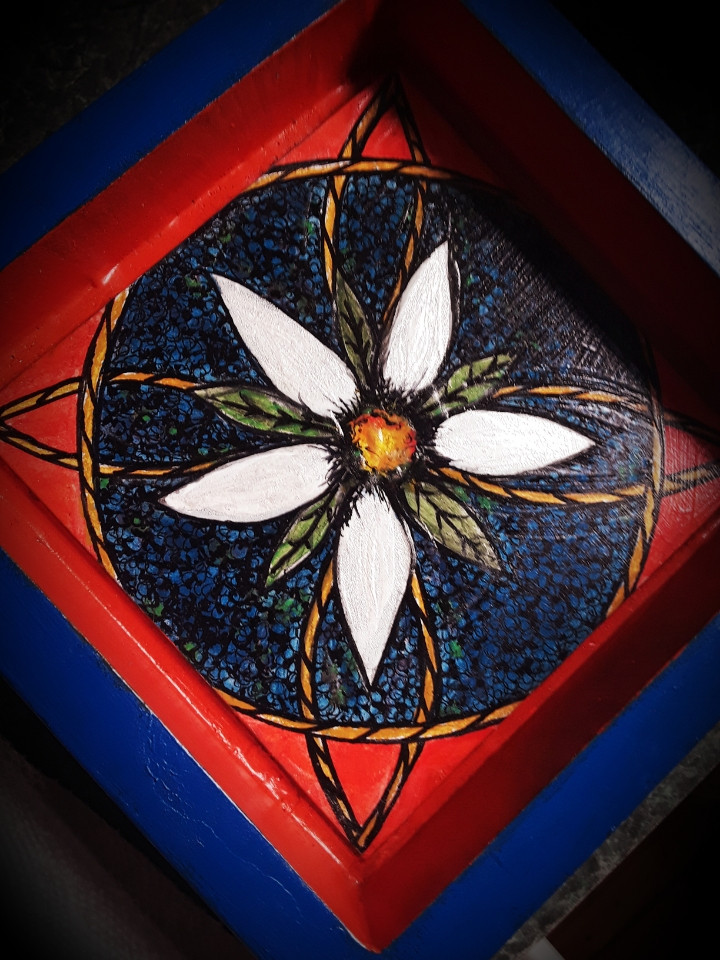 Original On-of-a-kind, Hand Painted Valet Tray