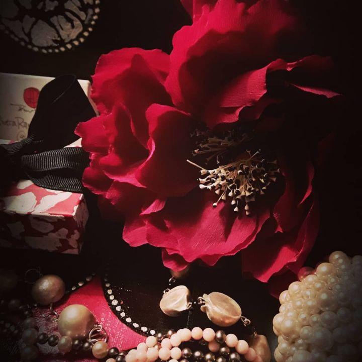 Paper Floral Arrangements And Jewels