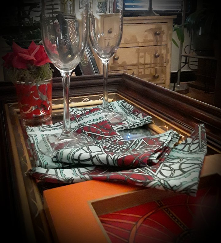 Printed Hand-Drawn Napkins