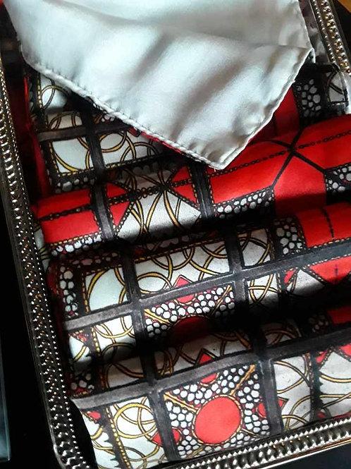 Satin Silk Scarf, House of Osman Pattern