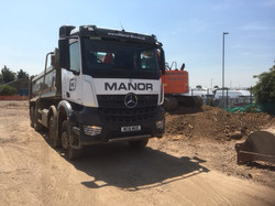 Mercedes tipper lorry