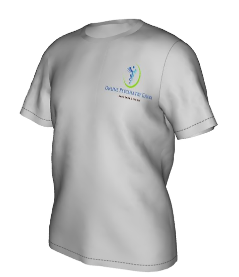 Plain Rounded Neck with Mini Logo for Men