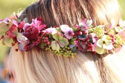 Kopfschmuck aus Blumen