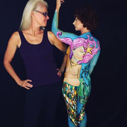 Mermaid Body Paint