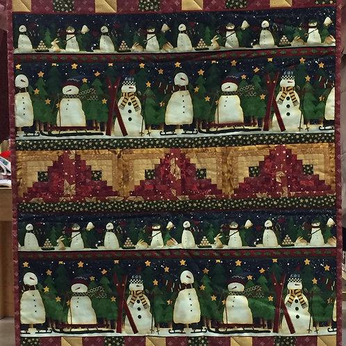 Sneeuwpop dekentje