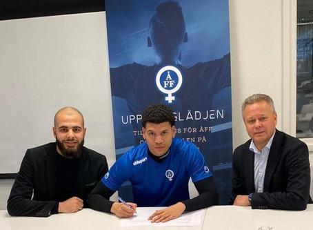 Diederick Luydens ta firma cu ekipo di Suecia Åtvidabergs FF.