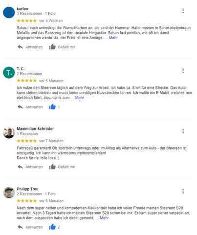 Google Bewertungen STEEREON